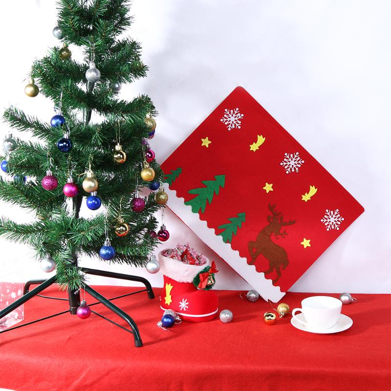 Christmas Tableware Mat Christmas Cutlery Forks Knife Tableware Holders Platemat Table Mat Decor Christmas Decoration for Home