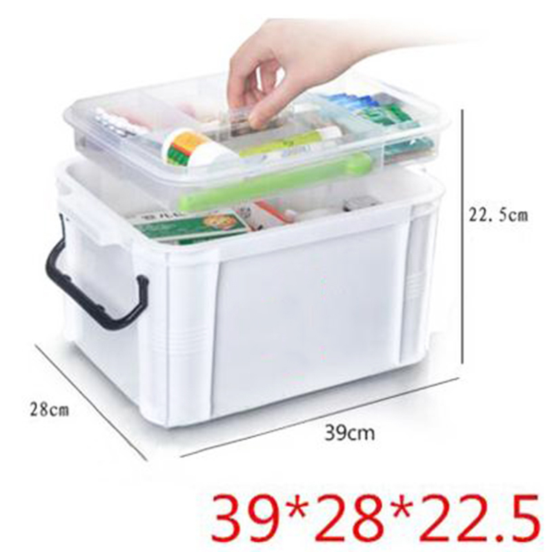 цены The box of the Red Cross first aid boxes plastic bin locker locker large medicine cabinet multilayer PCS household items