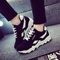 2016 Nova Primavera E Outono Feminino Tendência Das Mulheres de Conforto Sapatos Casuais Sapatos Da Moda Plana Sapatos de Lona Respirável