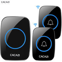 CACAZI New Wireless Doorbell Waterproof 300M Remote EU AU UK US Plug Smart Door Bell 38