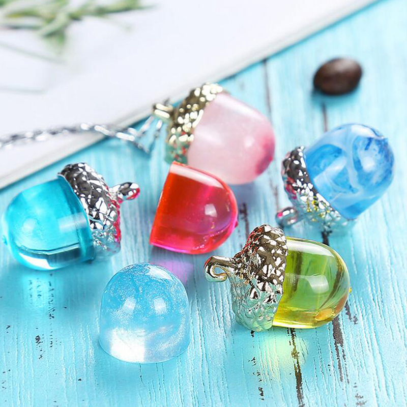 Transparent Silicone Mould Necklace Pendant Lanugo Mold Resin Craft DIY Acorn Type Epoxy Resin Molds For Jewelry Decorative