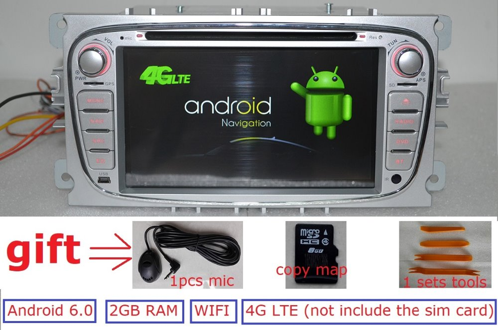 7 Android 6 0 for Ford focus 2 s max 2009 2 din font b car