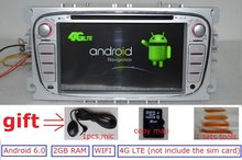 7″Android 6.0 for Ford focus 2 s-max 2009 2 din car dvd,gps navigation 4G LTE,Wifi,BT,quad core,1024 x 600,support the dvr,obd2