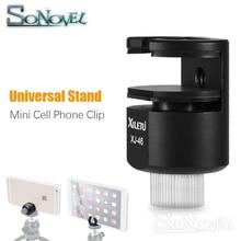 XILETU XJ 46 Mini Clip de téléphone portable en alliage daluminium support universel pour support de monture pour support de téléphone portable iPad iphone Selfie