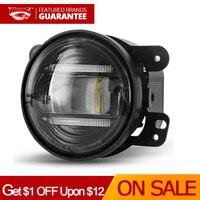 4 Inch Round Led Fog Lights 6000K White Off Road Fog Lamps For 4X4 Offroad Car Truck Waterproof 12V