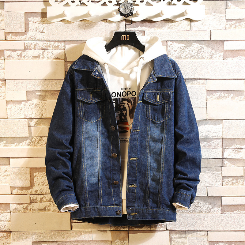 Bomber Thin Ripped Male Cowboy Denim Jacket Trendy Fashion Jeans Spring Autumn Mens Jackets Dropshipping Hot Sale Top Coat