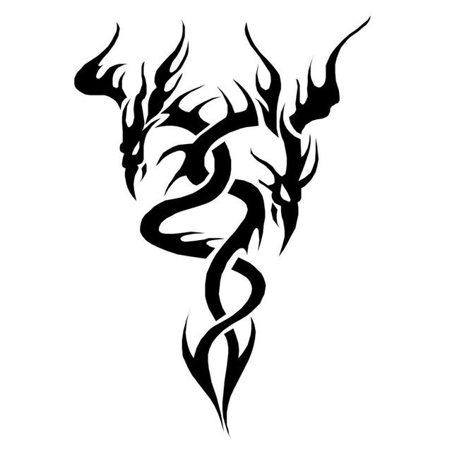 11 2cm16cm dragon tattoo design funny vinyl car styling decal car sticker black