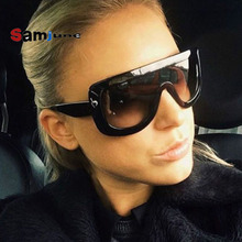 Samjune Newest Women Sunglasses Square Glasses Vintage Big F
