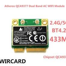 WIRCARD Atheros QCA9377 двухдиапазонный AC WIFI модуль WIFI адаптер mini PCI-E 2,4 г/5 г