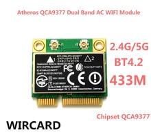 Wircard Atheros QCA9377 Dual Band AC WiFi модуль адаптер mini PCI-E 2,4 г/5 г