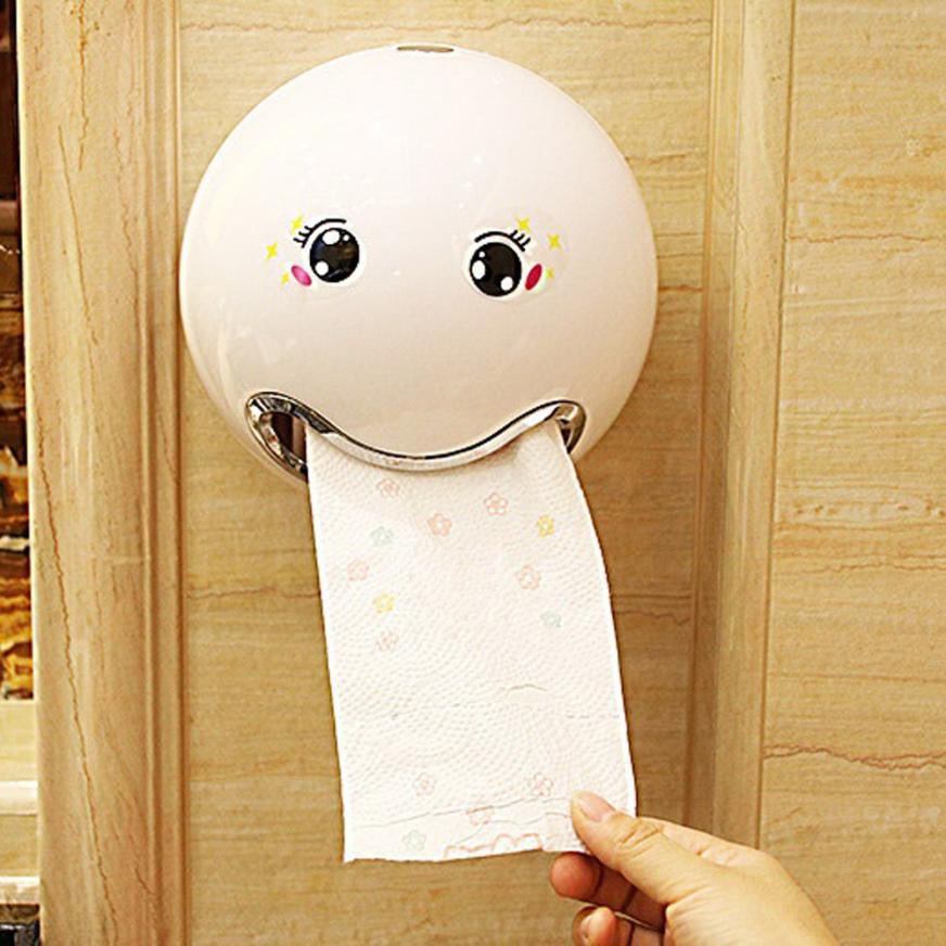 paper box Ball Shaped Cute Emoji Bathroom Toilet Waterprooftoilet paper box roll paper Roll Paper Hol storage