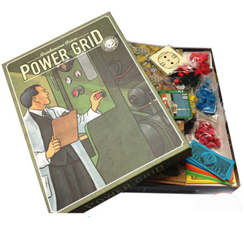Power Grid Board Game 2-6 Players Family/Party Best Gift for Children Cards Game With Extended Strategy Game saint petersburg board game cards game 2 5 players family toys game for children with parents indoor games