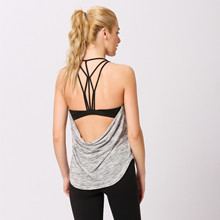 Yoga Shirts Sports Vest sweatshirts for Women 2in1  Padded Bra Gym Fitness Running Jogger shirts Jerseys