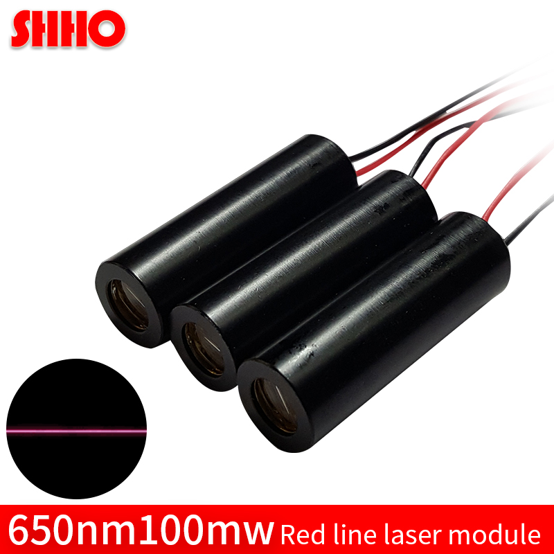 Professional Manufacturer 650nm 100mw red line laser module customizable production red laser marking cutting locator discount