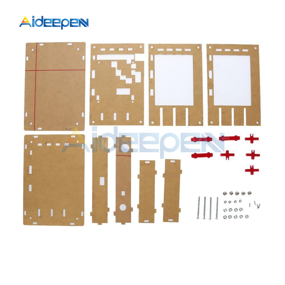 DIY Kit Acrylic Case Cover Protection Shell For Arduino DSO138 Oscilloscope Transparent Acrylic Cover Oscilloscope Accessories