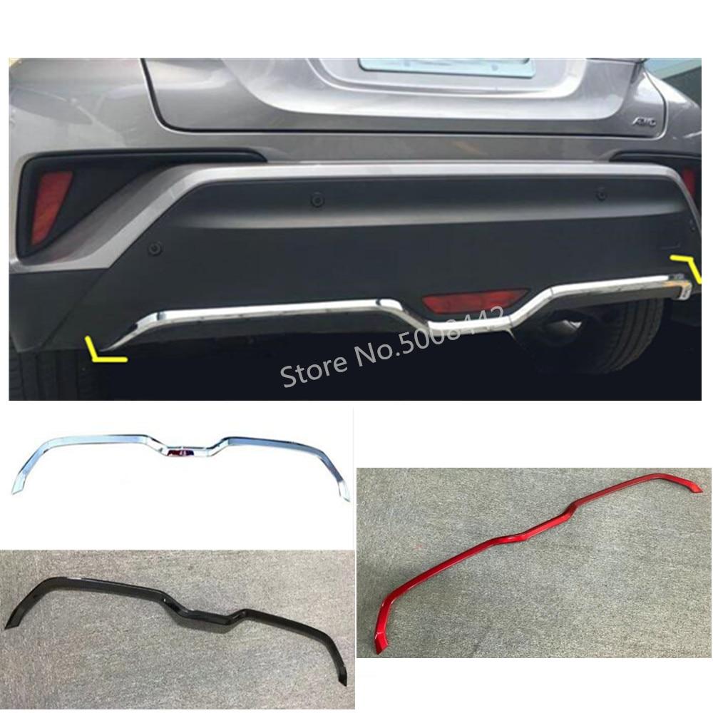 For Toyota C HR CHR 2017 2018 2019 car cover protection bumper trim rear back tail fog light bottom button trim pedal 1pcs