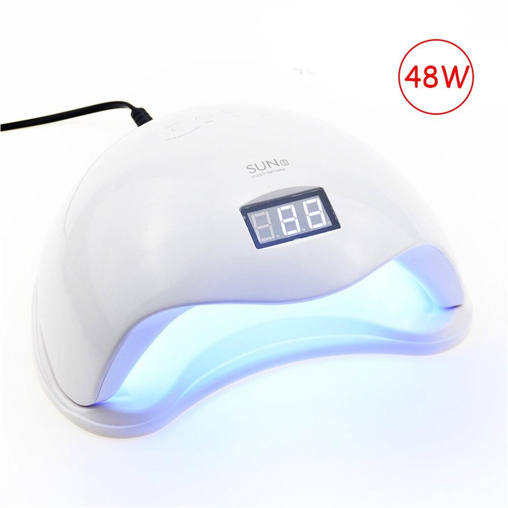 48 W lámpara de uñas UV lámpara LED para manicura secador de uñas para todos los geles polaco con detección infrarroja 10/ 30/60 s pantalla LCD Luz