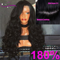 Top Grade Silk Base 180 Density 100% Human Hair Glueless Full Lace Wig Body Wave Front Lace Wig Black Women