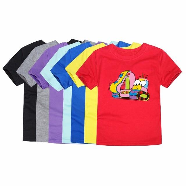 9d64abe32976 Brand New Summer Short Sleeve Boys Excavator Printing T Shirts ...