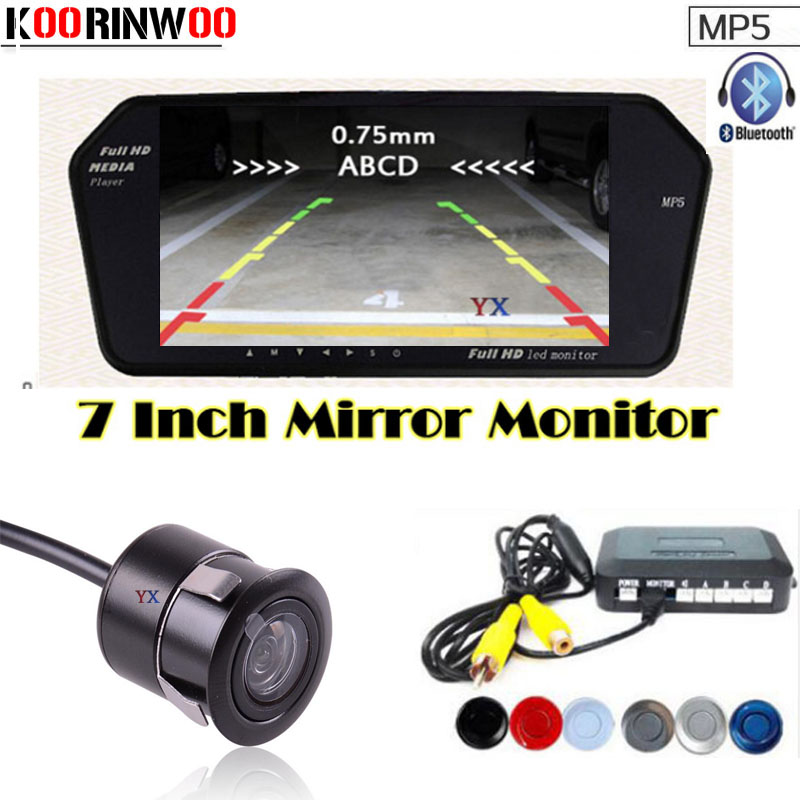 Genuine Koorinwoo Parktronic 4 Car Parking Sensors 1024*600 Car Monitor Bluetooth MP5/4 FM car Rear view camera Parking Assist dual core cpu car parking sensors 4 radars hd car monitor bluetooth mp5 4 fm auto rear view camera parktronic parking system