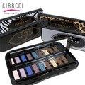Nuevo 1 UNIDS Calidad 10 colores Shimmer Mate Paleta Sombra de ojos Con Pincel de Maquillaje de Color Tierra Maquillaje Nude Sombra de Ojos herramienta