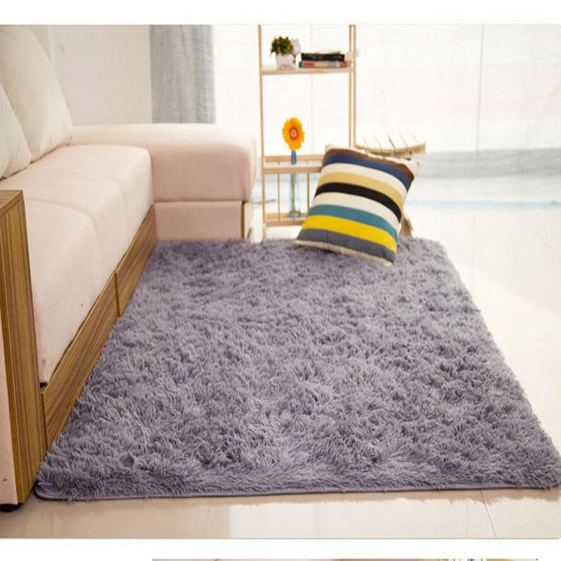 Mordern Anti Skid Plush Shaggy Area Rug Carpet For Living