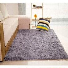 Mordern Anti-Skid Plush Shaggy Area Rug Carpet Nonslip Soft Fluffy Floor Mat for Dining Bedroom Home 80X120cm 5 Colors bricks wall print nonslip floor rug