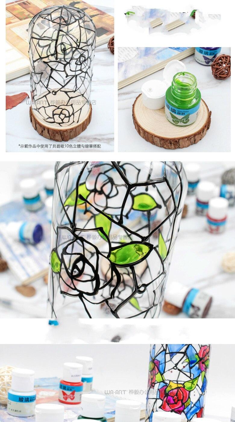 Pigmento de vidro impermeável anti-desvanecimento pintados à