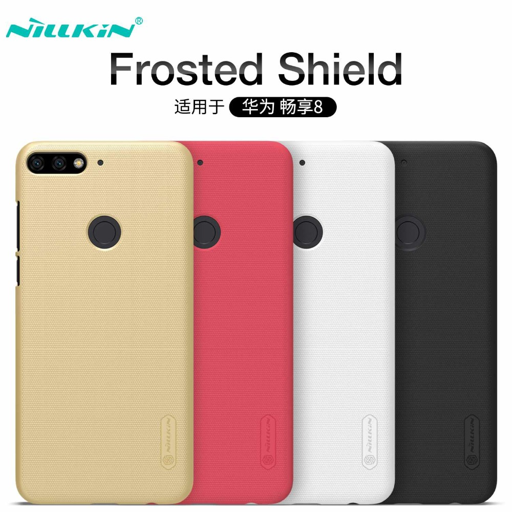 Nillkin For Huawei Honor 7C Case Cover Hard PC Plastic Frosted For Enjoy 8 Fundas Luxury Back Cover Shockproof Protective Shield