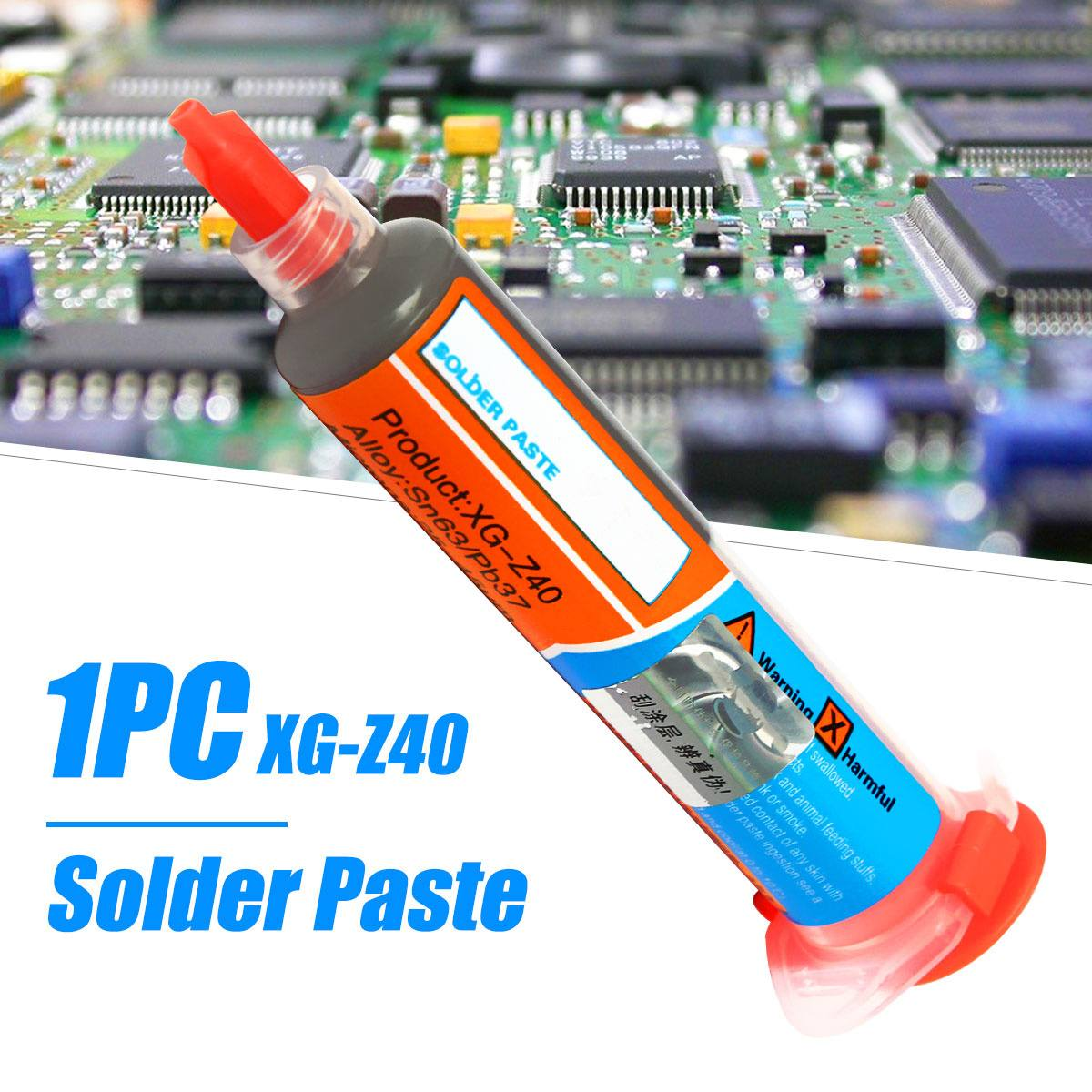 1pc 10cc Needle Shaped Xg-z40 Solder Paste Flux Sn63/Pb37 25-45um Syringe To Mobile Phone Repair Computer Services Industry