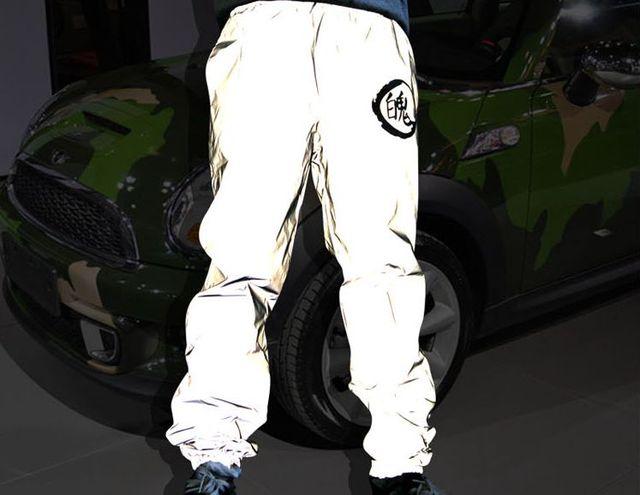 Новый 3 м светоотражающие брюки Хип-хоп шаровары мужчины drall мяч бегуны pantalon homme Повседневная багги падения промежность jogger брюки 7122