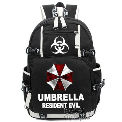 Hot Anime Resident Evil Backpack Cosplay umbrella Luminous Canvas Bag Schoolbag Travel Bags hot selling anime inuyasha sesshoumaru cosplay shoulders oxford bag backpack cartoon cute schoolbag satchel book bags