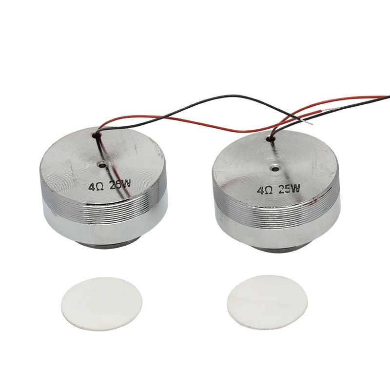 55mm 4Ohm 25 W DIY súper bajo altavoz de vibración de resonancia estéreo de frecuencia completa bocina de choque altavoz de Metal NdFeB Doble magnético