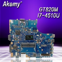 Akemy PU551LD материнская плата для ноутбука ASUS PRO551L PU551LD PU551LA PU551L P551L плата test ok REV2.0 I7-4510U GT820M