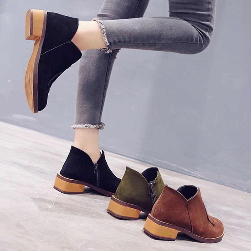 Tangnest Frauen Kurze Stiefel Winter Flock Martin Stiefel Einfarbig Gummi Runde Kappe Fahren Bootis Wasserdichte Schuhe XWX7224