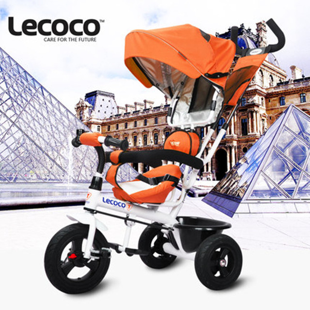 Lecoco Children Tricycle for 1-6 Years Baby Ride on Stroller