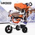 Lecoco Triciclo de Crianças de 1-6 Anos de Bebê Passeio no Carrinho De Criança