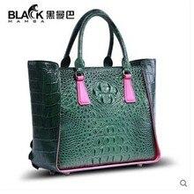 цена на 2019 heimanba Thai crocodile skin Female bag women handbag genuine leather summer simple new fashion crocodile bag big bag