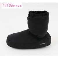 Damen schwarz lila grau ballett schloss Flo Ballett Tanz Warmen Boot fit für 23 cm bis 26,5 cm fuß länge warm-up booties 12005