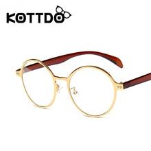 KOTTDO 2017 New Fashion Retro Round Glasses Men and Women Optical Brand Glasses Frames Female Computer Reading Eyeglasses frame