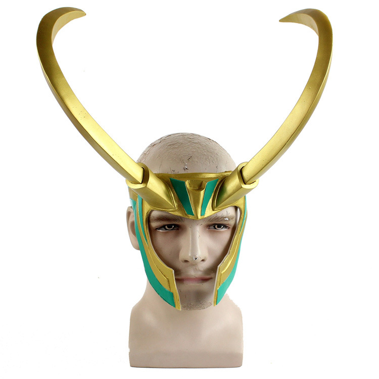 Thor The Dark World Loki Cosplay Costume Rock Helmet Head Wear Mask Halloween Stage Cosplay Party Prop Gift Latex Mask Drop Ship