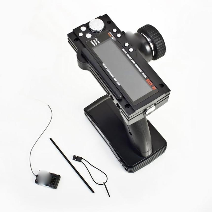 ФОТО FS-GT3B 2.4G 3CH RC Boat Control Gun Transmitter and Receiver w/ TX Boat Control toys with Attenna Tube Cool toys for boys