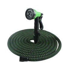 High Quality 25FT-100FT Garden Hose Expandable Magic Rubber Soft Plastic Watering Water Gun Nozzle Set Gardens