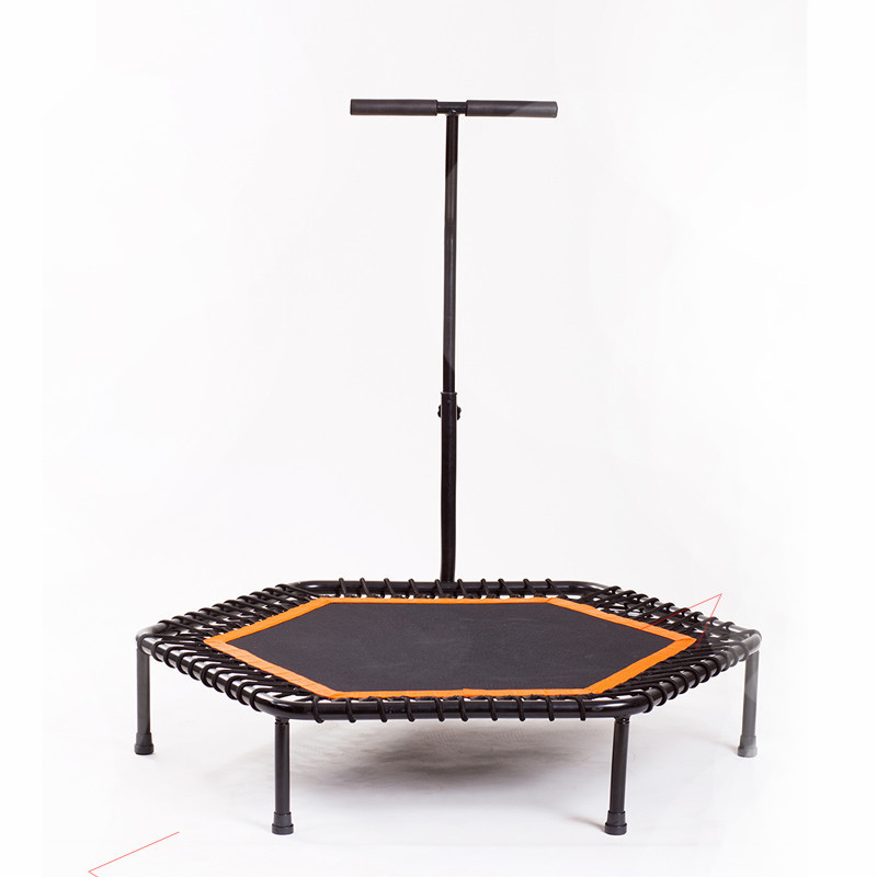 In-Home Silent Fitness Trampoline Fun Super Jumper with Handrail Indoor Rebounder for Adults Urban Cardio Workout Trainer D90601 цена