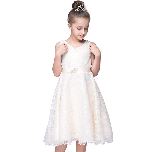 Girls Party Dress Kids 2016 Designer Children Teenagers Prom Party  Ceremonies Gowns Birthday Princess Dress Infantil for 2-12Y