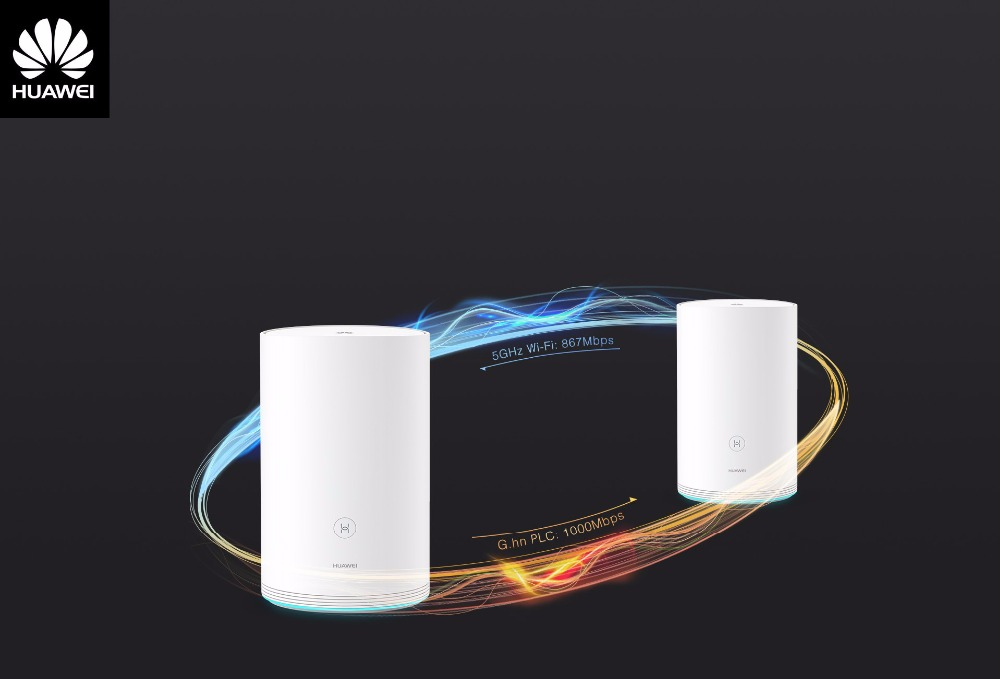 HUAWEI Routers Dual-Band Gigabit Two-Parent-Child-Routers Wireless Pro Q2 with Elegant-Design