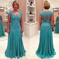 Full Length Mother of the Bride Lace Dresses for Weddings Chiffon A Line Elegant Formal Godmother Groom Mother Dresses