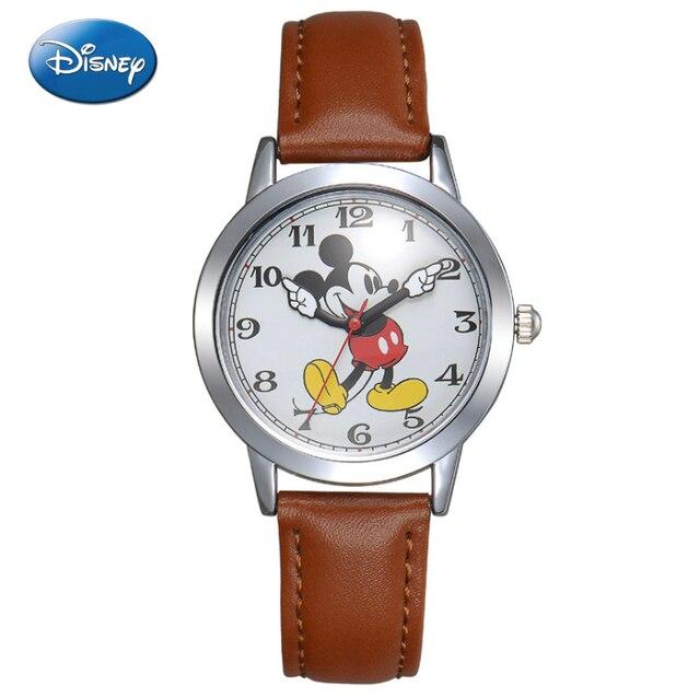 a2ab102d746 Disney Assistir Mickey Mouse Mulheres Relógios Moda Marca de Topo Relógio  de Pulso Relogio feminino Quartzo