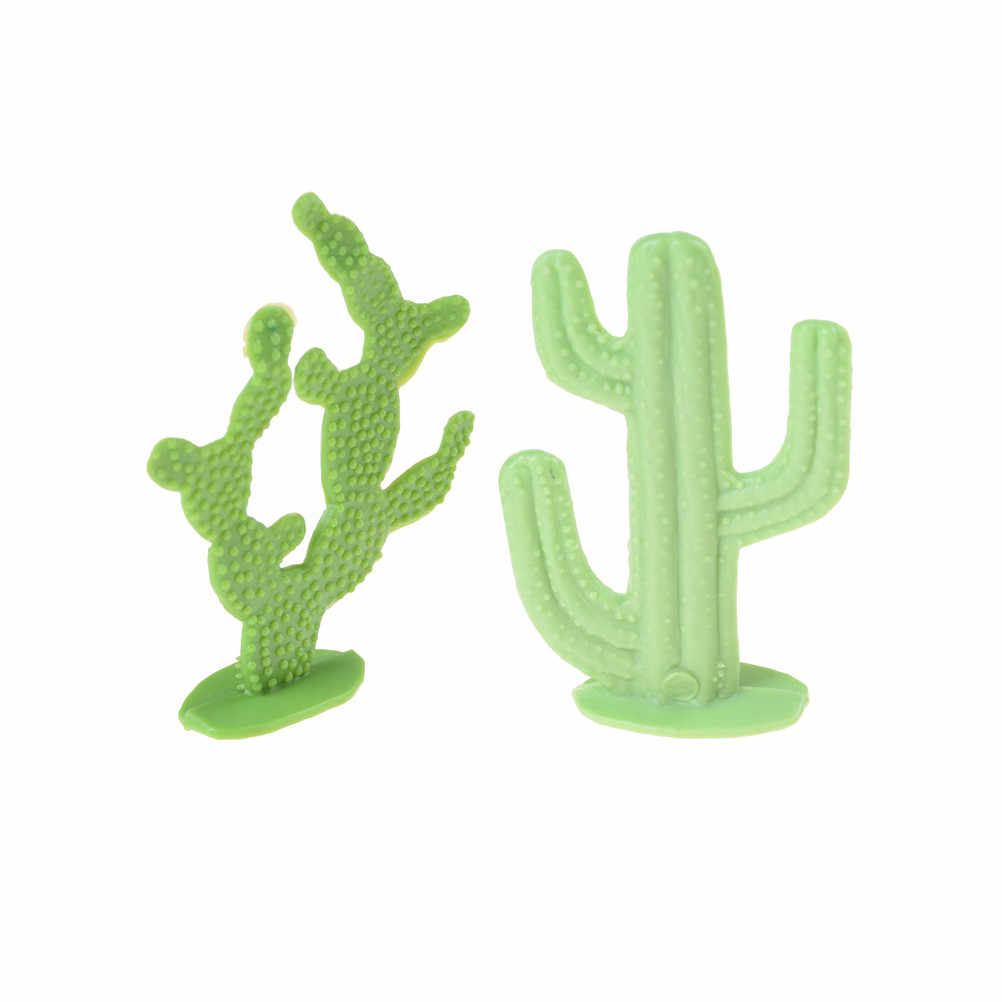 Hot Selling 2 Pcs 6cm Lovely Cactus Plant Model Railway Park Layout Scenery Dollhouse Decor Lowest Price