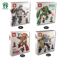 Caja de regalo Capitán América Avengers Iron Man MK46 Guerra Civil mk37 mk1 marvel bloques set compatible con ladrillos lego juguetes